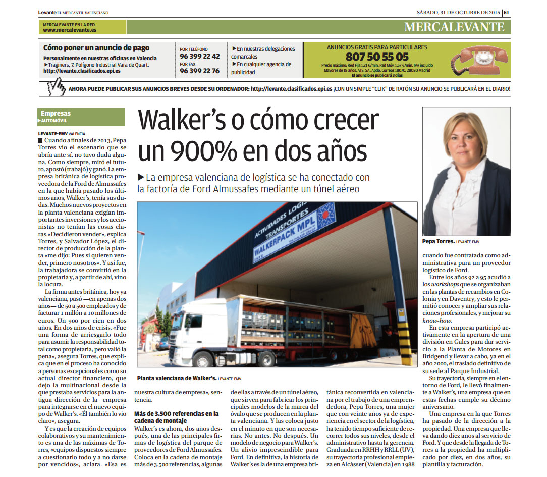 Walker´s en El Levante