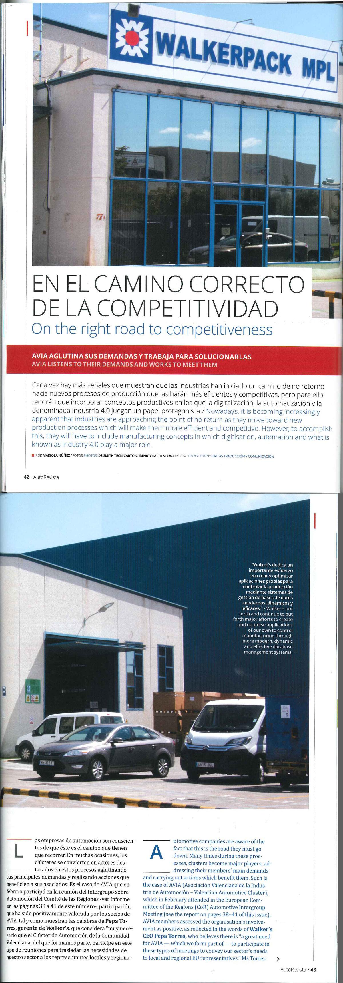 Walker´s en el camino correcto de la competitividad